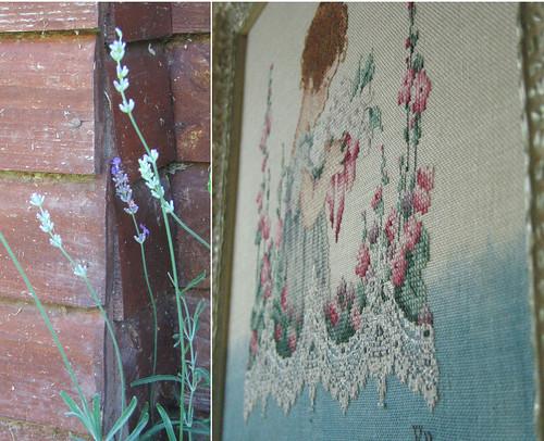 Lavender & Lace. Emma's Garden. Framed