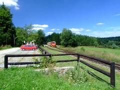 Narrow gauge train in Hůrky station (czechian) Tags: czechrepublic southbohemia čechy česko českárepublika středníčechy
