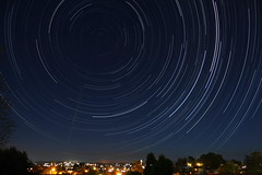 Startrails over town (LivingStone Images) Tags: startrails
