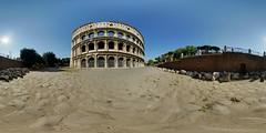 Colosseum close-up (gadl) Tags: italy panorama rome roma italia 21 tripod gimp colosseum coliseum italie colosseo colise hugin enblend equirectangular flavium amphitheatrumflavium amphitheatrum 303sph enfuse selmtr
