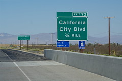 California City Blvd offramp (ron.photographer) Tags: california city sign desert mojave freeway