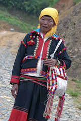 China, Yunnan, southern silk road #1 (foto_morgana) Tags: china portrait asia dress yunnan ethnic minorities ruili kachin jingpo traditionnaldress traditionnalgarment
