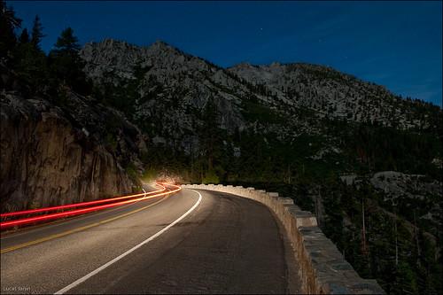 Light stream at Lake Tahoe