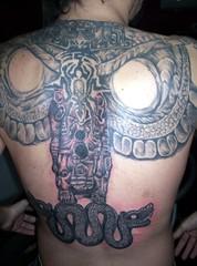 COMPOSICION, ESPALDA EN PROGRESO (roca tattoo studio) Tags: tattoo arte maya cultura tatuaje calendario azteca precolombino prehispanico