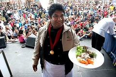 Chef Javier Arevalo won the prize for best ceviche