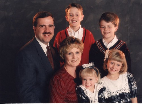 Black and Red Formal Family photo