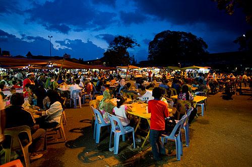 Dinner on the eve of Aidilfitri, Kota Bharu, Malaysia
