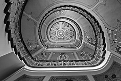 Art Nouveau Museum Staircase (liber) Tags: leica bw stairs digital spiral save3 save7 save8 delete save save2 latvia save9 save4 staircase m8 save5 save10 save6 riga save11