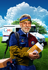 Google Snail Mail (AZRainman) Tags: truck google uniform mail tommy gmail chong mailman postman azrainmancom