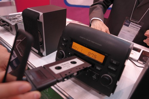 iPod connect unit for car audio cassette deck.
