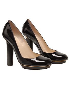 Nicholas Kirkwood black patent platform heels