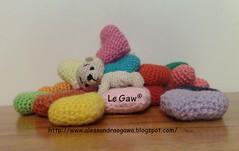 URSO PP CORAES (Le Gaw Craft Design) Tags: corao boneca bichos amigurumi brinde urso brinquedos chaveiro croche lembrancinha acessrio