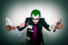 Poker Phase (kozumel) Tags: portrait halloween face self cards flying costume cara poker disfraz joker cartas phase autorretrato pker