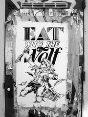 (...uno che passava... (senza ombrello)) Tags: urban bw streetart amsterdam bn bncittà eatwiththewolf