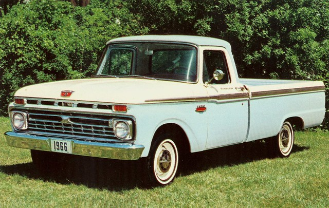 ford postcard pickup f100 1966