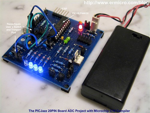 PIC18 Microcontroller Analog to Digital Converter with Microchip C18 Compiler