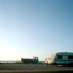 Salins (Audrey Leignel (A..)) Tags: morning sea summer sun mer france 6x6 film beach nature mediumformat square soleil sable sunny paysage portra plage matin camargue 100iso portratnc