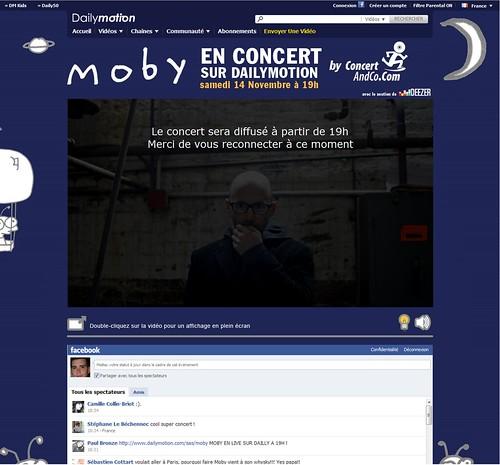 Concert de Moby sur Dailymotion Deezer