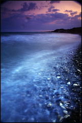 Dusk at Alaminos coast (-Filippos-) Tags: sea coast mediterranean cyprus shore 2008 alaminos