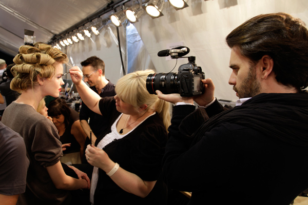 backstage, defile, dior, mannequin, maquillage