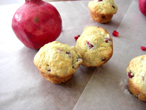 Pomegranate muffins