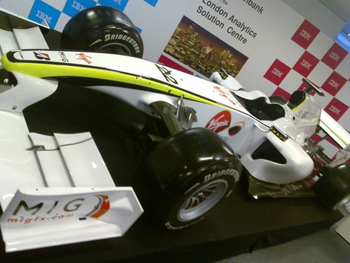 Brawn F1 car in IBM reception
