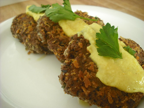 Black Bean and Walnut Croquettes