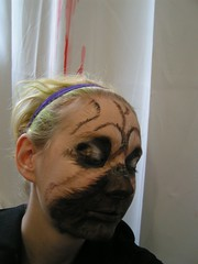 PICT0878 (the_babelsburg_effect) Tags: dog fur theatre makeup pug facepaint theatrical muzzle stagemakeup feathering bennye tessiebundick paintedfur