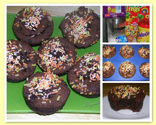 CUPCAKES DE CEREALES Y CHOCOLATE