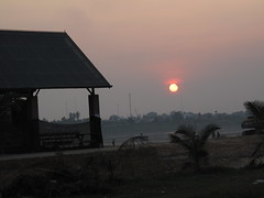 Sunset over the Mekong - Vientiane, Laos