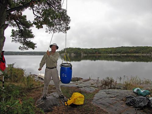 Campsite # 509, Bearproofing (The Massasauga Park, Ontario)