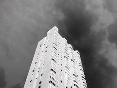 (EYECCD) Tags: sky white abstract black color building delete10 architecture clouds delete9 delete5 delete2 delete6 delete7 delete8 delete3 delete delete4 save negative inverted gf1 deletedbydeletemeuncensored