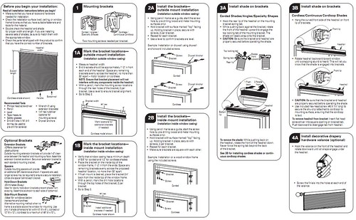 LEVOLOR Accordia Cellular Shades Instructions PWDR0142 by stevegarfield