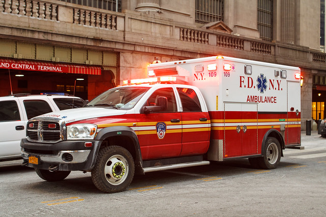 city nyc ny newyork fire lights ambulance dodge ram fdny department flashers 109 code3