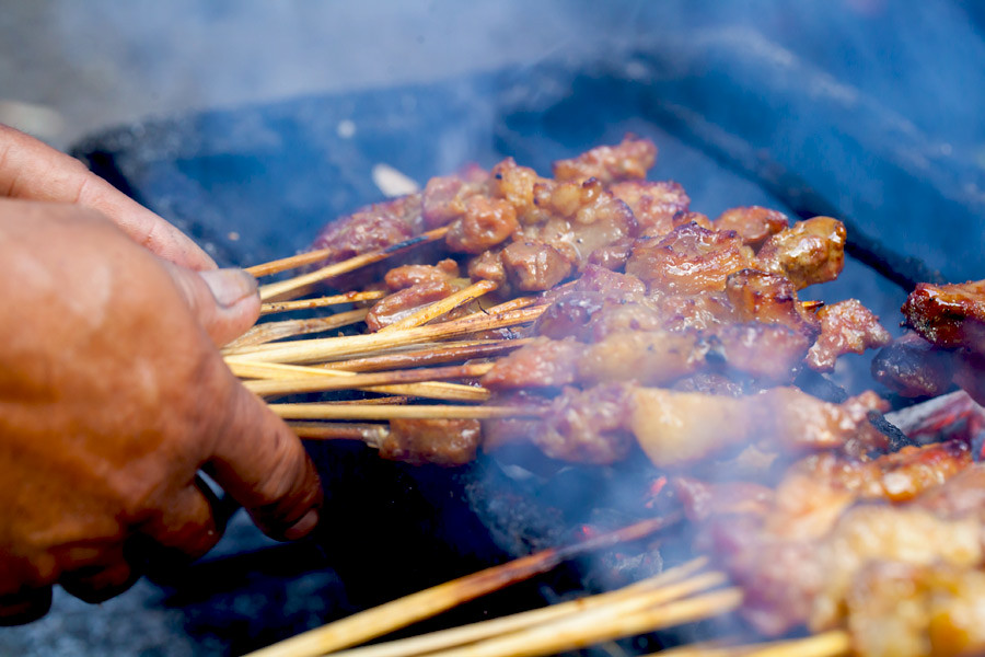 Malaysia's famous satay can be found all over Kuala Lumpur