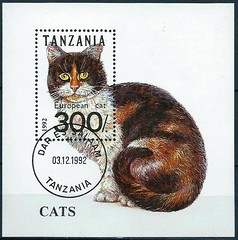 1 (TVTB) Tags: katze cat tanzania tansania briefmarke block stamp