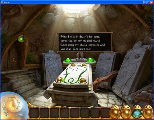 18 - Ancient Barrow 04 - statue puzzle clue