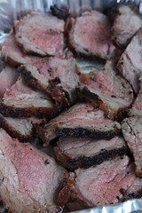 Tri-tip marinated in tahini