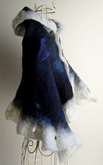 The Blue Puzzle - alredy taken! (ArcEnCielcreations) Tags: winter france wool felted scarf french australia melbourne merino cashmere scarves etsy bacchusmarsh naturalinspiration