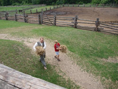 Kelley Farm moving straw