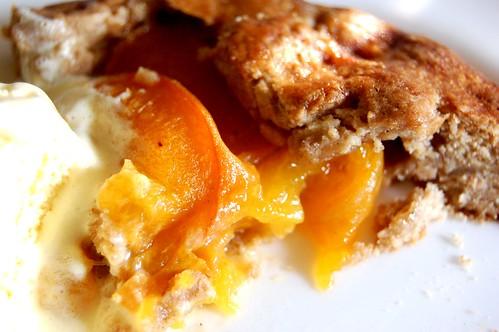 apricot galette & vanilla ice cream