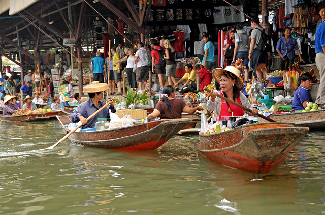 Floating Market Boat Thailand