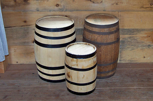 Three Wooden Buckets
