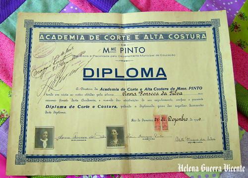 Diploma de corte e costura (1940)
