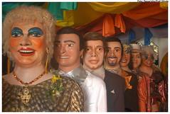 Bonecos criados pelo artista plástico Silvio Botelho se tornarão manequins para estilistas do SPFW. - Foto: Passarinho/Pref.Olinda