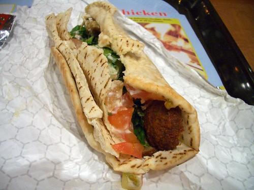 Zankou falafel wrap