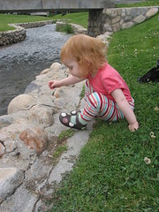 Lilah looking at the stream