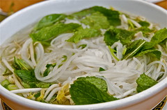 Vietnamese Chicken (rice) Noodle Soup (ms4jah) Tags: food chicken ga soup san vietnamese rice herbs mint diego fresh delicious basil noodle lime pho authentic craving reastaurant