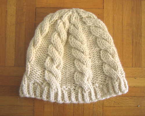 Chunky Knit Hat Pattern Free : Chunky Cable Hat   Free Pattern Tin Can Knits