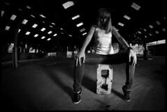 wonderwall (sky histoire) Tags: old light woman abandoned girl beautiful metal canon nice scary rust pretty darkness arms legs body fear feel redhead warehouse tanktop natalia emotions derelict fit feelings strobist handshair canon5dmarkii